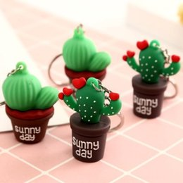 Solar Gadgets Australia - SIMULATION POTTING SUCCULENT MEXICO CACTUS KEYCHAIN KEYRING SOFT RUBBER CHARM KEY CHAIN KEY RING LOVELY KEYS GADGET ACCESSORIES DAILY GIFT