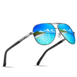 Driving Mirrors UK - New Men's Polarized Sunglasses Frog Mirror Spring Legs Series Colorful Film Fishing Driving Anti-UV Sunglasses + Box