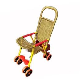 $enCountryForm.capitalKeyWord Canada - Summer Bamboo Rattan Baby Trolley Travel Lightweight Stroller Convertable Four Wheels Baby Pram Stroller Folding Wheelchair
