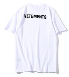 5cbf9708c 2018 new style Vetements T Shirt Cotton men women Black White T-Shirt Tee  Hip Hop summer staff tops