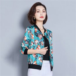 Top condiTion online shopping - Summer Air Conditioning Tops Casual Thin Jacket Female New Loose Baseball Uniform Long Sleeved Large Size Outside Jacket WIN903