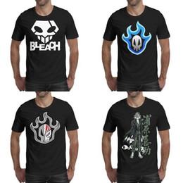 $enCountryForm.capitalKeyWord NZ - Mens printing Bleach logo skull blue black t shirt Personalised Slim fit Dri Shirts Urban Kisuke fan mask gray white red Ichigo