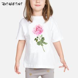 Children Flower Shirt Australia - Baby Girls T shirt Kids Flower Print Clothes New 2019 Summer T-shirts Children White O-Neck Camisetas 2 to 8 Years Toddler Tops