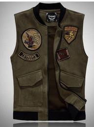 $enCountryForm.capitalKeyWord Australia - New spring vest men's Clothing baseball uniform collar vest men jacket suede Outerwear Coats casual vests
