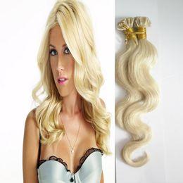 "$enCountryForm.capitalKeyWord Australia - Body Wave Keratin Capsules Human Fusion Hair Nail U Tip Machine Made Remy Pre Bonded Hair Extension 16"" 20"" 24"" 1g s 100g"