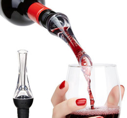 $enCountryForm.capitalKeyWord NZ - New Wine Pourers Aerator Red Wine Aerating Pourer Mini Magic Red Wine Bottle Decanter Acrylic Filter Tools With Retail Box DHL Free