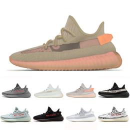 83ad0504232 Yeezy Boost 350 V2 shoes True Form Clay Hyperspace TRFRM Men Women Running  Shoes Black Copper Cream Static Zebra Blue tint Trainer Mens Sports  Sneakers 36- ...