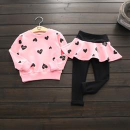 Long Pink Tutu Australia - Girl spring and autumn suit Long-sleeved sweater + leggings tutu skirt set children casual outfit baby kids clothing sets girls sportswear