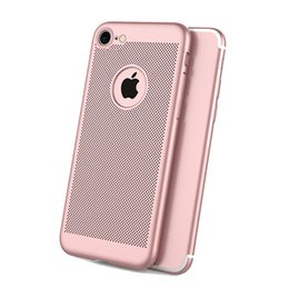 Mesh Iphone Case Black Australia - Free shipping New breathable mesh cooling matte drop protection mobile phone case FOR IPHONE 6 6S 7 8 X XS XR MAX PLUS