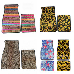 Feet mats online shopping - Universal Car Floor Mats Leopard Print Foot Carpets Per Suit Anti Skidding Multi Colors dy F1