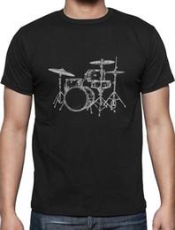 $enCountryForm.capitalKeyWord Australia - Gift for Drummer Cool Drums Design Printed T-Shirt Drums Playermens pride dark t-shirt