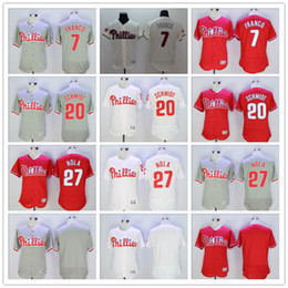 blank kids shirts NZ - 2020 wholesale men women kids youth Stitched 7 MaikelFranco 20 MikeSchmidt 27 AaronNola gray red white blank football Jerseys soccer shirts