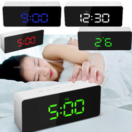 $enCountryForm.capitalKeyWord Australia - LED Digital Alarm Clock Large Electronic USB Mirror Clocks Multifunction Snooze Thermometer Display Time Night LCD Light Table Desktop