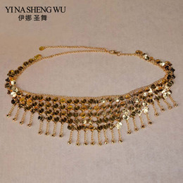 gold metal chain belt Australia - 2018 New Belly Dance Waist Chain Belly Dance Belt Exquisite Bell Ornament Oriental Dancing Chain Metal Coin Bell Waist