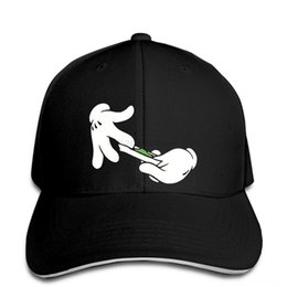 rolling snapback hat Canada - Baseball Cap Funny Mikey Hands Rolling Blunt Joint Pot420 MenUnisex Cool Casual pride men Unisex Snapback Hats & Caps Hats, Scarves &