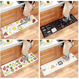japanese carpet NZ - Japanese Kitchen Mat Waterproof Oilproof Kitchen Rug PVC Leather Anti-fatigue Kitchen Carpet Non-slip Wear-resistant