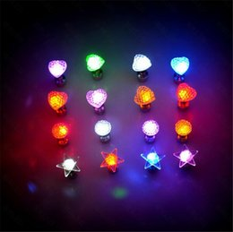 Magnet Items Australia - Flash earrings Hairpins Strobe LED ear ring Lights mant styles Strobe flashing Nightclub party items Magnets Fashion lighting earring stud