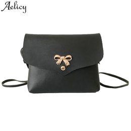 6912e60c7475 Cheap Aelicy Lady shoulder bag Bow Pure Color girl Messenger bag Satchel  Tote Crossbody Bag for women 2019 bolsa feminina dropshipping