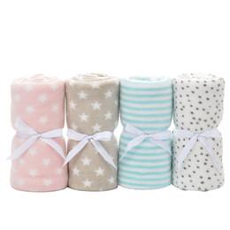 Newborn Bedding Australia - 2019 New Baby Blanket Coral Fleece Infant Swaddle Envelope Stroller Wrap For Newborn Baby Bedding Blankets