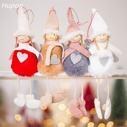 hanging doll decoration NZ - Cute Angel Plush Doll Christmas Tree Decoration Pendant Hanging Ornaments Christmas Decoration for Home New Year Navidad 2018