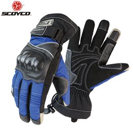 Racing Gears Australia - otorcycle gloves Scoyco M15B-2 Motorcycle Gloves Winter Warm Waterproof Windproof Protective Sports Racing Gears Accessories luvas Free ...