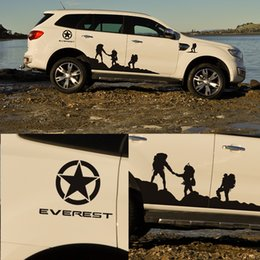 Discount personal decal - for ford everest 2015 customize car decal 6pc side body brothers personal styling protect scratch graphic vinyl car stic