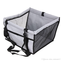 waterproof dog hammock UK - Free Shipping Dog Basket Folding Puppy Dog Bed Hammock Waterproof Pet Mat Car Seat Cover Dog Carrier with Traction Buckle cama para cachorro
