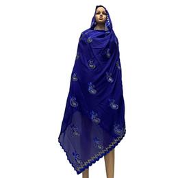 $enCountryForm.capitalKeyWord UK - New Arrival African Women Scarfs Soft Cotton Scarf Big Embroidery Design On The Back Long Shawls HeadScarf BM787