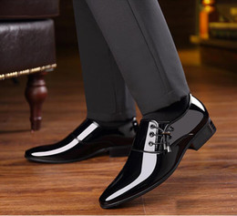 new pointy shoes men Australia - 2019 New Style Spring Autumn Men Formal Wedding Shoes Luxury Men Business Dress Shoes Men Loafers Pointy Shoe