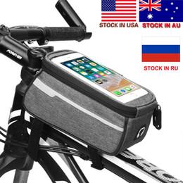 Water Resistant Gps Australia - Dropshipping Mountain Bike Bag Cycling Bicycle Bag Pollice Gps Touch Screen Phone Rainproof Waterproof Nylon Bags Stock in US,AU #170379