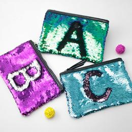 $enCountryForm.capitalKeyWord UK - Fashion Woman Makeup Handbag Reversible Glitter Mermaid Sequins Cosmetic Bag Handbag Makeup Pouch Pencil Case Pen Bag Zipper Box DHL Free