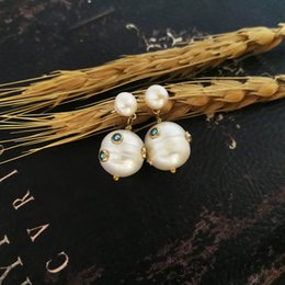 $enCountryForm.capitalKeyWord Australia - Vanssey Vintage Natural Pearl Round Stud Earrings Fashion Jewelry Statement Accessories For Women 2018 New J190629