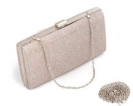 $enCountryForm.capitalKeyWord Australia - New bright evening party clutch bag handbag chain small box square hard shell clutch bag shoulder 130