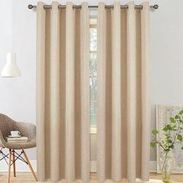 blue home decor curtains Australia - Modern Solid Color Blackout Curtain & Valances for Bedroom - Home Decor Grommet Curtains for Kitchen Living Room-Match with Sheer Curtains