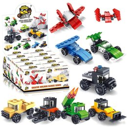 Wholesale Hot building blocks three changes diy toy combination building block five in one fire racing tank children educational toy gift kids toys