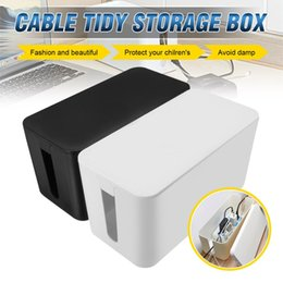 $enCountryForm.capitalKeyWord Australia - Safety Power Cord Socket Case Organizer Cable Tidy Storage Box Practical Home Office Wire Management Dustproof Black White S M