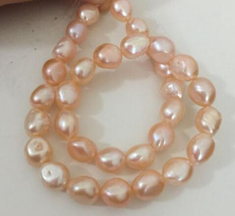 $enCountryForm.capitalKeyWord Australia - Lovely huge 12-13mm South Sea Baroque rose gold pearl necklace 18 inches 925 silver