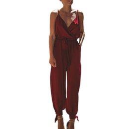 ead32e696e1 Summer Rompers Womens Jumpsuit Solid Color Bodycon Backless Jumpsuits Women  Sexy Party Jumpsuits Casual Floral Printed Overalls