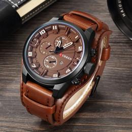 Curren Men Sports Leather Watches Australia - New Curren Top Brand Luxury Mens Watches Male Clocks Date Sport Military Clock Leather Strap Quartz Business Men Watch Gift 8225 Y19051302