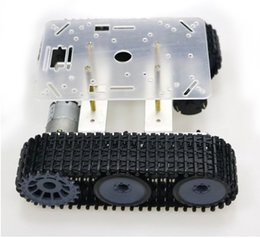 track motorcycles Canada - RC Metal Robot Tank Chassis mini TP100 Crawler Caterpillar Tracked Vehicle with Plastic Track for Arduino diy educational kit