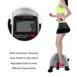 Startseite Exerciser Radfahren Fitness Mini Pedal Übungs-Fahrrad LCD-Display Indoor Cycling Bike Stepper für ältere Junge Lose Weight im Angebot