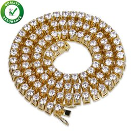Discount rappers jewelry - Hip Hop Jewelry Iced Out Chains Luxury Designer Necklace Mens Gold Chain Bling Diamond Cuban Link Rapper Tennis Charms F
