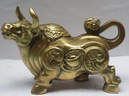 Bull statue online shopping - Scupture crafts Copper sculpture home Metal crafts Home Decoration Chinese brass Carved Bull Sculpture Metal Ox Statue