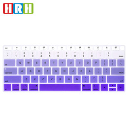 """$enCountryForm.capitalKeyWord Australia - English Rainbow Color Keyboard Cover Silicone Skin Protector for Macbook Air 13"""" Newest 2018 Released with Touch ID Fingerprint US Version"""