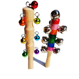Sports & Entertainment Bells & Chimes Wooden Handle Bell Shaker Sleigh Bells With Strap Shaking Percussion 2 Colors Percussion Instruments Accessories Bells Chimes Discounts Price