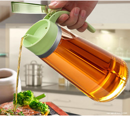 Kitchen Containers Wholesale Australia - Reinforced Glass Olive Oil Bottle Premium 650ml Vinegar Container Kitchen Soy Sauce Bottle Fashion Glass Vinegar Storage Bottle