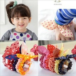 $enCountryForm.capitalKeyWord Australia - hair bows for kids fashion cloth dot designer headbands baby girl cute rabbit ear headband children hair accessories