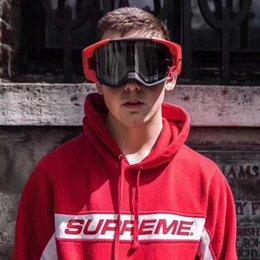 Venta al por mayor de Al por mayor a prueba de viento Gafas de esquí Enfriar Smith Cariboo OTG Rojo Gafas Gafas FW15 alta calidad que libra Trabajador Lentes para esquiar en Stock