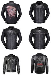 skulls motorcycles NZ - Design Hip Hop Bomber Jacket Fashion Motorcycle Leather Jacket For Men Autumn Winter Slim Fit Biker Jackets Male Skulls Casual Outwear Coats