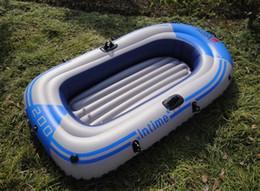 venda por atacado 02/01 Pessoa Inflatable Kayak Canoe 55/90 kg Remo Air Boat Duplo válvula de derivação Mergulho barco inflável Pesca Boa